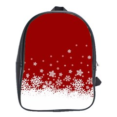 Xmas Snow 02 School Bag (large) by jumpercat