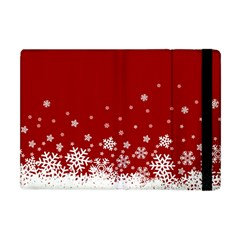 Xmas Snow 02 Apple Ipad Mini Flip Case by jumpercat