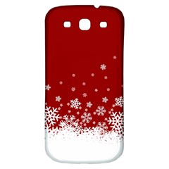 Xmas Snow 02 Samsung Galaxy S3 S Iii Classic Hardshell Back Case by jumpercat