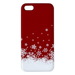 Xmas Snow 02 Apple Iphone 5 Premium Hardshell Case by jumpercat