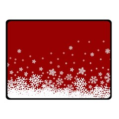 Xmas Snow 02 Double Sided Fleece Blanket (small)  by jumpercat