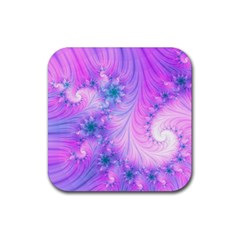 Delicate Rubber Square Coaster (4 Pack)  by Delasel
