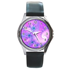 Delicate Round Metal Watch by Delasel