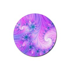 Delicate Rubber Coaster (round)  by Delasel
