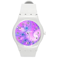 Delicate Round Plastic Sport Watch (m) by Delasel