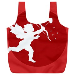 Cupid Bow Love Valentine Angel Full Print Recycle Bags (l)  by Celenk
