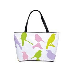 Birds Colourful Background Shoulder Handbags by Celenk