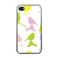 Birds Colourful Background Apple Iphone 4 Case (clear) by Celenk