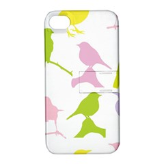 Birds Colourful Background Apple Iphone 4/4s Hardshell Case With Stand by Celenk