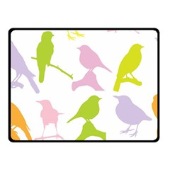 Birds Colourful Background Double Sided Fleece Blanket (small)