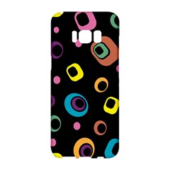 Abstract Background Retro 60s 70s Samsung Galaxy S8 Hardshell Case