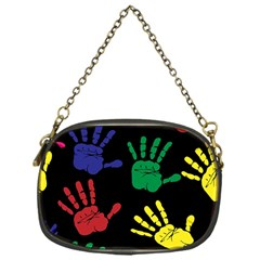 Handprints Hand Print Colourful Chain Purses (one Side)  by Celenk