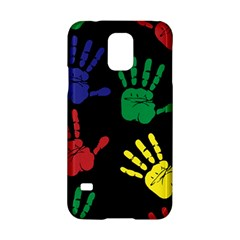 Handprints Hand Print Colourful Samsung Galaxy S5 Hardshell Case  by Celenk