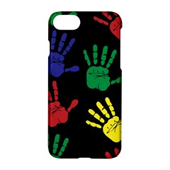 Handprints Hand Print Colourful Apple Iphone 8 Hardshell Case by Celenk