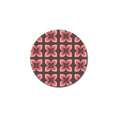 Floral Retro Abstract Flowers Golf Ball Marker (4 Pack)