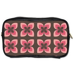 Floral Retro Abstract Flowers Toiletries Bags 2 Side