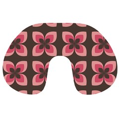 Floral Retro Abstract Flowers Travel Neck Pillows by Celenk