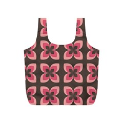 Floral Retro Abstract Flowers Full Print Recycle Bags (s)  by Celenk