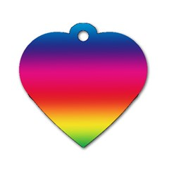 Spectrum Background Rainbow Color Dog Tag Heart (two Sides) by Celenk
