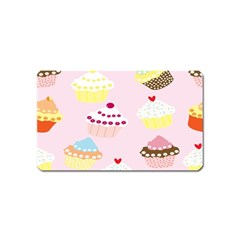 Cupcakes Wallpaper Paper Background Magnet (name Card) by Celenk