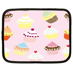 Cupcakes Wallpaper Paper Background Netbook Case (large) by Celenk