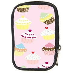 Cupcakes Wallpaper Paper Background Compact Camera Cases by Celenk