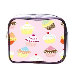 Cupcakes Wallpaper Paper Background Mini Toiletries Bags by Celenk