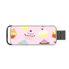 Cupcakes Wallpaper Paper Background Portable Usb Flash (two Sides)