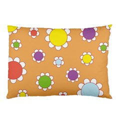 Floral Flowers Retro 1960s 60s Pillow Case (two Sides) by Celenk