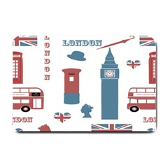 London Icons Symbols Landmark Small Doormat  by Celenk