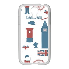 London Icons Symbols Landmark Samsung Galaxy S4 I9500/ I9505 Case (white) by Celenk