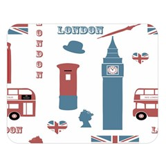 London Icons Symbols Landmark Double Sided Flano Blanket (large)  by Celenk