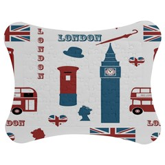 London Icons Symbols Landmark Jigsaw Puzzle Photo Stand (bow)