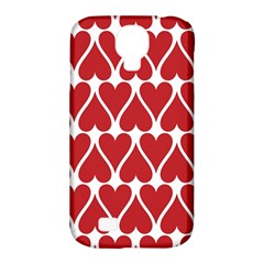 Hearts Pattern Seamless Red Love Samsung Galaxy S4 Classic Hardshell Case (pc+silicone) by Celenk