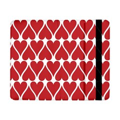 Hearts Pattern Seamless Red Love Samsung Galaxy Tab Pro 8 4  Flip Case