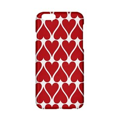 Hearts Pattern Seamless Red Love Apple Iphone 6/6s Hardshell Case