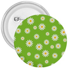 Daisy Flowers Floral Wallpaper 3  Buttons by Celenk