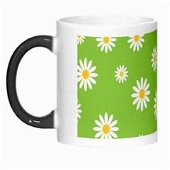 Daisy Flowers Floral Wallpaper Morph Mugs by Celenk