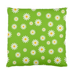 Daisy Flowers Floral Wallpaper Standard Cushion Case (two Sides) by Celenk