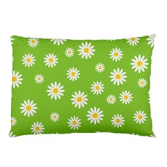 Daisy Flowers Floral Wallpaper Pillow Case by Celenk