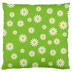 Daisy Flowers Floral Wallpaper Large Cushion Case (two Sides) by Celenk