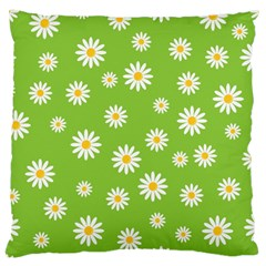 Daisy Flowers Floral Wallpaper Large Flano Cushion Case (one Side) by Celenk