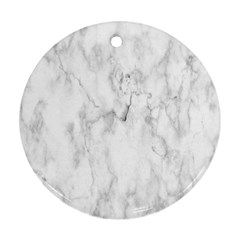 White Background Pattern Tile Round Ornament (two Sides) by Celenk