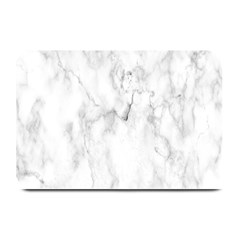 White Background Pattern Tile Plate Mats by Celenk