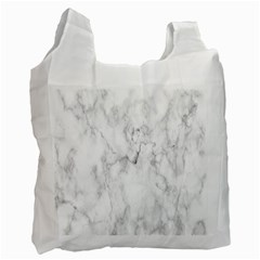 White Background Pattern Tile Recycle Bag (two Side)