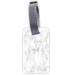 White Background Pattern Tile Luggage Tags (one Side)  by Celenk