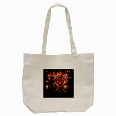 Butterfly Brown Puzzle Background Tote Bag (cream) by Celenk