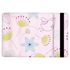 Floral Background Bird Drawing Ipad Air Flip by Celenk