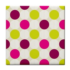 Polka Dots Spots Pattern Seamless Tile Coasters by Celenk