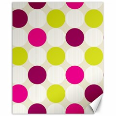 Polka Dots Spots Pattern Seamless Canvas 16  X 20   by Celenk